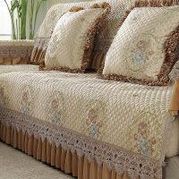 沙发垫夏季欧式四季通用巾罩布艺皮沙发坐垫全盖沙发套全包非�f能