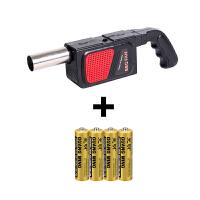 电动鼓风机 自动烧烤鼓风机小型吹风机户外野炊烧烤用配件工具 +5号电池4节