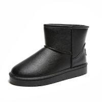 平底雪地靴加厚防水短靴学生短筒靴女加绒冬季百搭女靴子