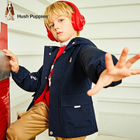 【2件5折券后预估到手价:174元】暇步士童装男童外套春秋装新款儿童工装休闲风衣中大童冲锋衣