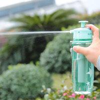 户外水杯运动水壶塑料便携创意潮流学生夏季水瓶喷雾杯喷水