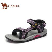 camel 骆驼凉鞋夏季户外凉鞋柔软舒适双魔术贴弹力时尚女凉鞋