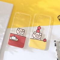 小米8/9手机壳硅胶软壳6x mix2s 8se青春版探索8屏幕指纹6 可爱女款创意猪猪ins风插画