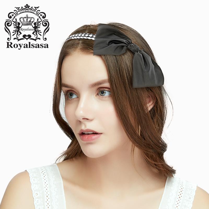 皇家莎莎发箍蝴蝶结窄边头饰韩国版发饰品发卡子头箍简约甜美发夹