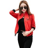 休闲运动服套装女装夏季2018新款潮韩版时尚宽松春秋装长袖两件套 M 女
