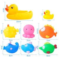 宝宝洗澡玩具儿童洗澡小鸭子游泳婴儿玩具宝宝水上戏水玩具 抖音
