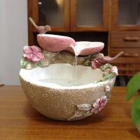 结婚礼物送闺蜜创意礼品 桌面流水喷泉摆件客厅装饰水景鱼缸摆设