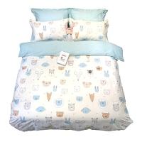 卡通简约儿童单人床三件套1.2米床上用品被套床笠四件套