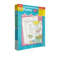 【G2-6阅读理解诗歌】Read Understand Poetry Grades 2-6 美国加州教材4册 阅读与理解系列 诗歌 Evan Moor 英文原版绿山墙