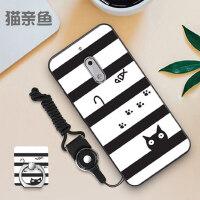 诺基亚6手机壳全屏钢化膜 诺基亚6 一代保护套 nokia6 1代 ta-1000 手机保护壳 个性创意男女款挂绳支架