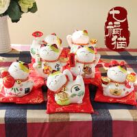 小可爱储蓄罐开业居家创意汽车摆件结婚礼物日本陶瓷猫