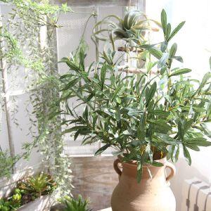 幸阁 仿真花艺 橄榄枝家居装饰礼品MW19953 植物墙假花婚庆手捧花背景花墙摄影布景