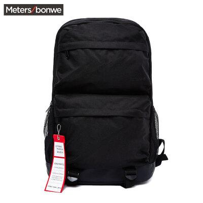 美特斯邦威双肩背包男2018夏季新款基本多袋双肩包旅行背包学生