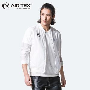 AIRTEX/亚特 透气 纯色字母印花皮肤风衣男 英国时尚户外