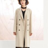 美特斯邦威羊毛大衣女文艺学院风大衣学生西装外套潮冬装新款