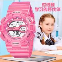 时诺刻 儿童电子手表 时尚 多功能 生活防水夜光 学生表 男女手表