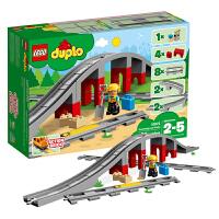 当当自营 乐高LEGO得宝Duplo系列10872火车桥梁与轨道