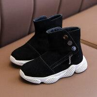 【活动价:126】女童鞋儿童短靴子真皮公主2019年新款冬季时尚加绒防滑二棉保暖鞋