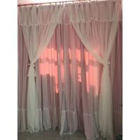 韩式公主蕾丝窗帘女孩卧室房间粉窗纱成品婚房清新儿童房遮光定制 全遮光粉色 90%遮光【布+纱】
