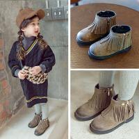 女童二棉靴子2018冬季新款儿童公主时装靴女孩宝宝短靴