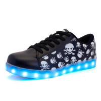 男孩荧光运动鞋10大童休闲鞋11青少年男鞋12男童跑步鞋13板鞋15岁 黑色