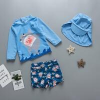 韩版分体泳装男童中小童防晒温泉泳装儿童泳衣配泳衣