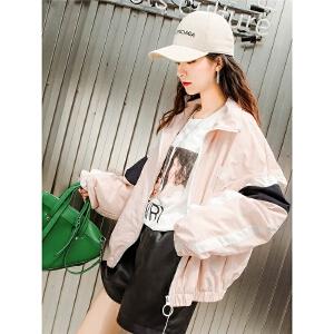 七格格短外套女春秋装女新款夏韩版学生球服宽松bf风港味休闲棒球服