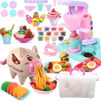 儿童彩泥无毒象皮超女孩送盒子小猪面条机玩具橡皮泥模具工具套装