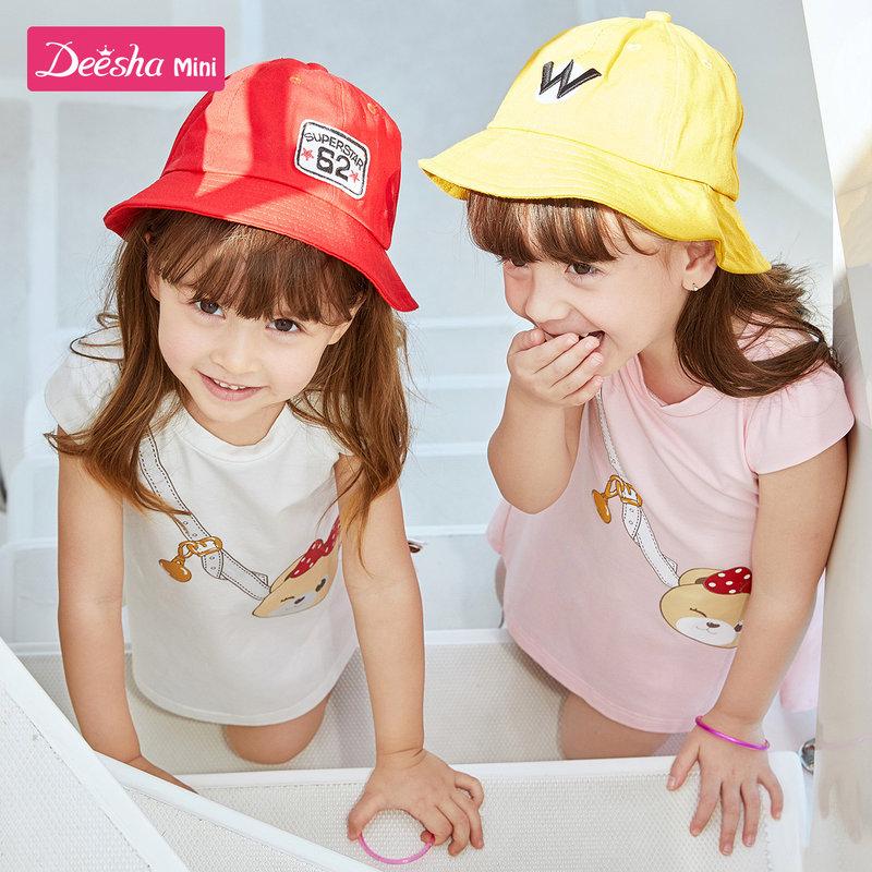 【119元4件价:29.8】笛莎童装女童连衣裙夏装2020新款夏季宝宝公主裙小女孩儿童裙子女