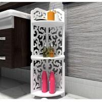 卫生间置物架置地式浴室用品收纳架厕所转角三层落地防水整理架子 卡德拉 80*23*23