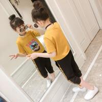 童装女童夏装运动套装新款韩版夏季中大童儿童洋气短袖两件套