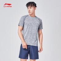 李宁套装男士2018新款训练系列短袖男装短裤夏季运动服AWBN003