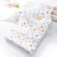新生儿抱被春夏季薄款 婴儿纯棉包被 初生婴儿用品 宝宝包巾襁褓 双层薄款狮子