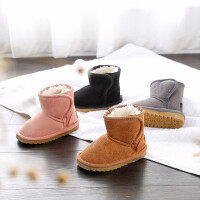 女宝宝雪地靴1-3岁2018新品儿童雪地靴男冬季1-3岁4中筒靴子保暖防滑加绒女宝宝鞋子 TBP