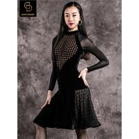 dancebaby拉丁舞服装女2018新款拉丁舞裙跳舞练功连衣裙DA905
