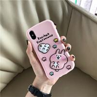 粉色少女心硅胶苹果X/Xs/Max/XR手机壳iPhone8plus防摔7p软新款6s 苹果6/6s 硅胶-平面粉色兔