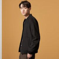 【1件2.5折到手价:111.3】美特斯邦威大衣男冬季新款休闲潮流学生韩版短款棒球呢料外套
