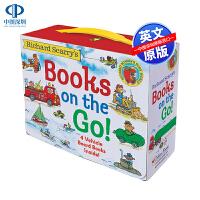 英文原版 斯凯瑞 奇妙交通工具 Richard Scarry's Books on the Go 盒装4册纸板书 儿童英