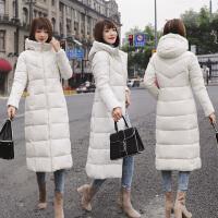 女长款时尚棉衣羽绒冬装新款韩版过膝加厚加大码连帽棉袄外套