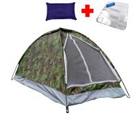 野外钓鱼单人帐篷野营轻防水户外1人室内迷彩加厚防雨露营便携