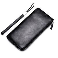 男士钱包长款软皮多功能手机包韩版个性手包青年拉链手拿包潮