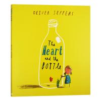 正版 瓶子里的心 英文原版绘本 The Heart and the Bottle 奥利弗・杰弗斯绘本:瓶中心 全英文版