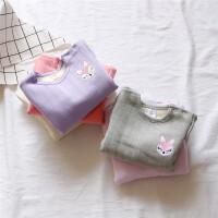 狐狸加绒打底衣 0-1-2-3岁女童宝宝纯棉加绒加厚保暖长袖上衣T恤