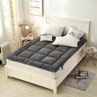 羊羔绒加厚保暖床垫榻榻米垫被床褥子1.2m 1.5米1.8m床上用品冬季 灰色 羊羔绒榻榻米床垫