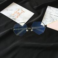 2018 新款复古防日系蓝光圆球平光镜男女装饰眼镜框架大框近视镜性感潮流