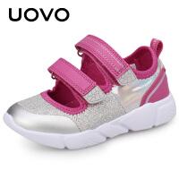 【1件1.5折�r:69元】UOVO女童鞋子2020新款�和�透�饩W鞋中大童休�e�\�有�夏季�n版�涡� 海��娜