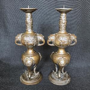 烛台铜摆件