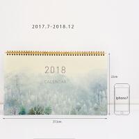 2018年台历可爱创意记事大台历办公桌面计划日历记事本 雾 .8-2018.12(非可立)