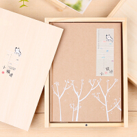 B小旅途 彩页木盒本 布面创具日记笔记本 记事本子A5