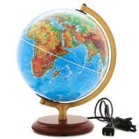 博目地球仪25cm高清LED灯光中英文地名书桌摆放教学地理世界地形图中国博目地图制品新年礼物